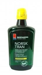 Rybí olej - NORSK TRAN - Přírodní citronová příchuť 250 ml
