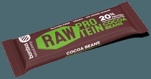 Tyčinka Bombus RAW PROTEIN kakaové boby 50g