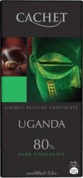 CACHET čokoláda hořká UGANDA 80% 100g