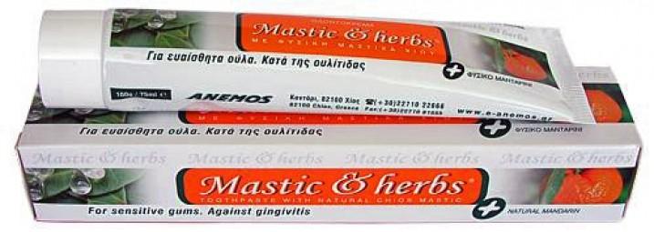 Zubní pasta s mastichový a mandarinkovým olejem, myrhou a šalvějí