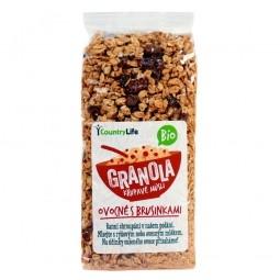 Akce spotřeba 04.09.2021 Granola - Křupavé müsli ovocné s brusinkami 350 g BIO