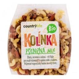 Těstoviny kolínka pšeničná mix 400g BIO   COUNTRYLIFE