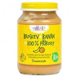 Příkrm broskev, banán 190 g BIO