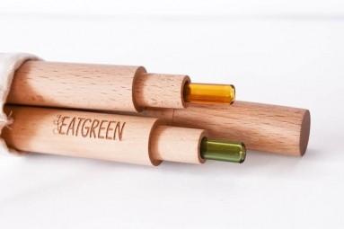Dřevěný obal na brčko 24 cm