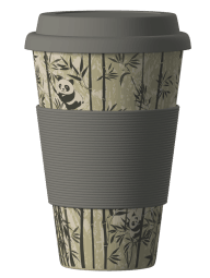 Eco Bamboo Cup - Panda (šedý)