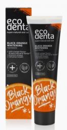 Černá bělící zubní pasta s pomerančovou příchutí