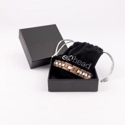 Náramek na ruku - Brown Silver s krabičkou