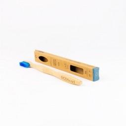 Bambusová zubní kartáček Soft blue