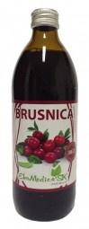 Šťáva Brusinka 100% 500 ml