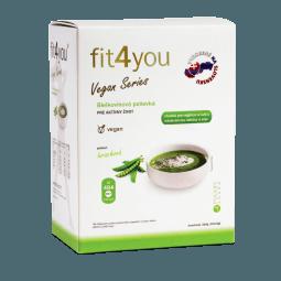 Fit4you Vegan bílkovinná polévka Hrachová 10x34g