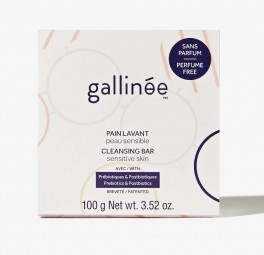Gallinée prebiotické nemydlo bez parfemace - tuhý cleansing bar bez parfemace 100 g