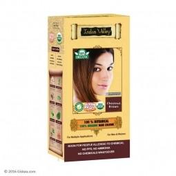 Akce spotřeba: 08/2021 100% Rostlinná, 100% Organická barva na vlasy kaštanově hnědé