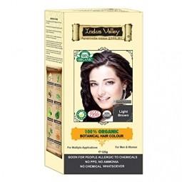 Akce Spotřeba 08/2021  100% Rostlinná, 100% Organická barva na vlasy Světlehnědá-1