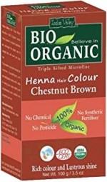 Akce spotřeba: 08/2021 Henna barva na vlasy Kaštanovohnědá
