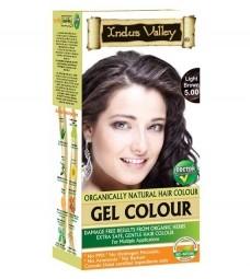 Gelová barva na vlasy Světlehnědá 5.0