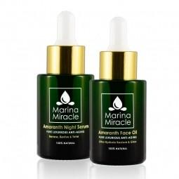 Velké výhodné balení Amaranth Face Oil & Amaranth Night Serum