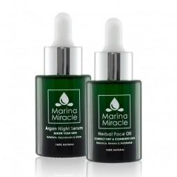 Velké výhodné balení Herbal Face Oil & Argan Night Serum