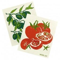 More Joy Kuchyňská pratelná utěrka 2ks Rajčata - Olivy