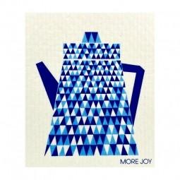 More Joy Modrý čajník - utěrka