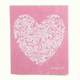 More Joy Růžové srdce - utěrka