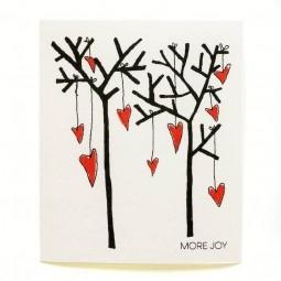 More Joy Stromy a srdce - utěrka