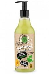 Přírodní sprchový gel 100% vitamíny - Organický zelený čaj a Zlatá Papaja