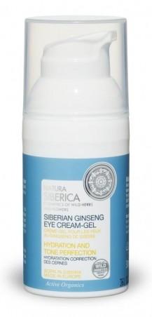 Krémový hydratační a tonizující gel na oči ze sibiřského ženšenu