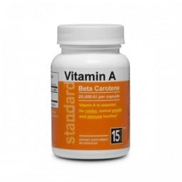 Vitamin A Betakaroten 25 000 IU, 60 kapslí