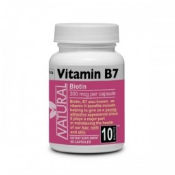 Vitamin B7 Biotin 300 mcg 60 kapslí