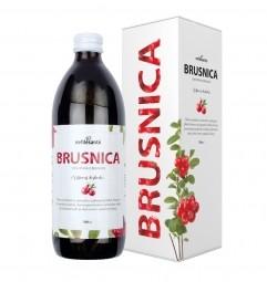 Brusinek (100% šťáva z brusinky velkoplodé s přídavkem vitamínu C 500 ml)