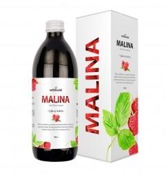 MALINA (100% šťáva z plodů maliny s přídavkem vitamínu C 500 ml)