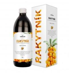 RAKYTNÍK (100% šťáva z rakytníku řešetlákového s přídavkem vitamínu C 500 ml)