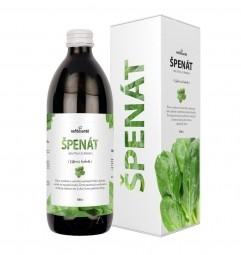 ŠPENÁT (100% šťáva ze špenátu setého s přídavkem vitamínu C 500 ml)