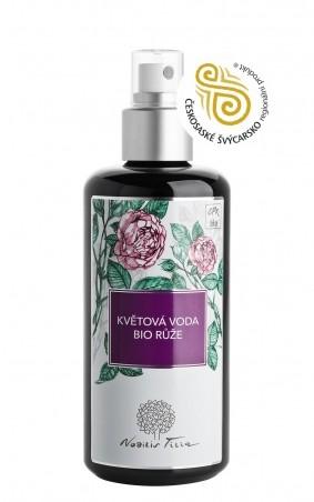 Květová voda Růžová 200 ml (sklo)