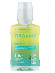 Organic People - 3v1 přírodní certifikovaná ústní voda - Kokos a máta