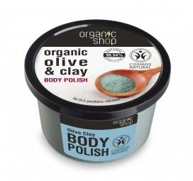 Organic Shop - Tělový peeling Olivový olej a jíl 250 ml