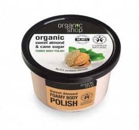 Organic Shop - Pěnový tělový peeling Sladké mandle 250 ml