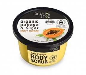 Organic Shop - Papája - Tělový peeling 250 ml