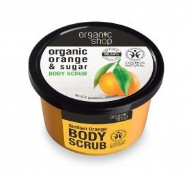 Organic Shop - Sicilský pomeranč - Tělový peeling 250 ml