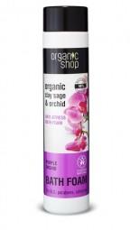 Organic Shop - Šalvěj a orchidej - Protistresová pěna do koupele 500 ml