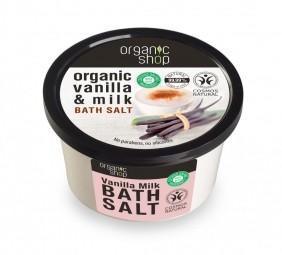 Organic Shop - Vanilka a mléko - Sůl do koupele 250 ml