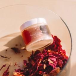 Šlehané tělové máslo pro ženy s mandlovým olejem a růží