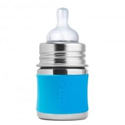 Pura® nerezová kojenecká láhev 150ml - Aqua