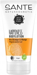 HAPPINESS tělové mléko BIO pomeranč a mango - 150ml