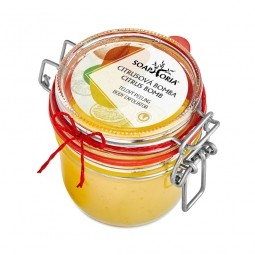 Citrusová bomba - organický solný tělový peeling
