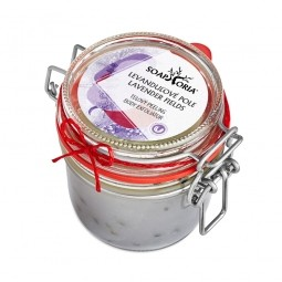 Levandulové pole - organický solný tělový peeling