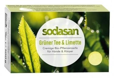 BIO pleťové mýdlo CREAM zelený čaj a limetka - 100g
