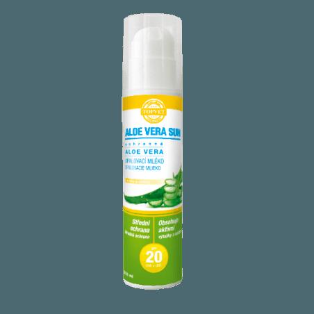 Aloe vera opalovací mléko SPF 20 200ml