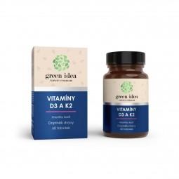 Vitamíny D3 a K2 60 kapslí Topvet