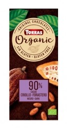 Torras Organic hořká - 90% 100g